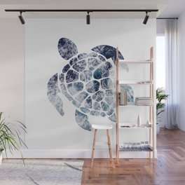 Sea Turtle - Blue Ocean Waves Wall Mural