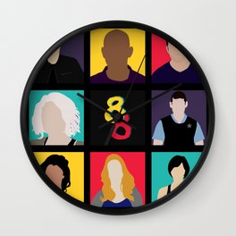 Sense8 Colors Wall Clock