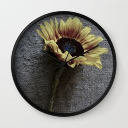 Sunflower on Jute Wall Clock