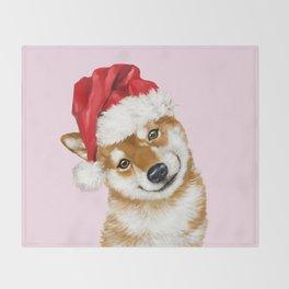 Christmas Shiba Inu Throw Blanket