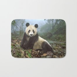 Majestic Adult Panda Chilling In Misty Wood Clearing Ultra HD Bath Mat
