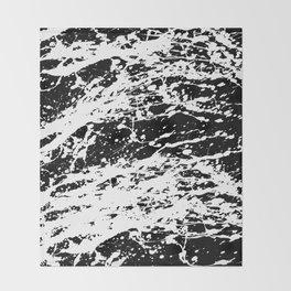 Black and White Paint Splatter Throw Blanket