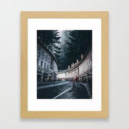 Cycling at Regent Street by GEN Z Framed Art Print