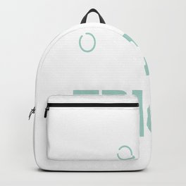 awesome on wheels keep staring stare on wheels Backpack
