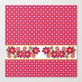 Crimson floral pattern . Canvas Print