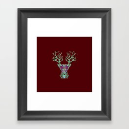 Blue Deer Songs  Framed Art Print