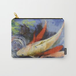 Koi and Water Ripples Carry-All Pouch