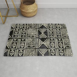 Tribal mud cloth pattern Rug