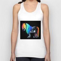 pony Tank Tops featuring Rainbow Pony by Crystal Cook Art