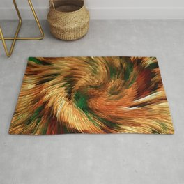 Swirling in the forest.... Rug