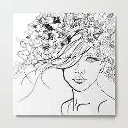 Coloring Cover Girl Metal Print