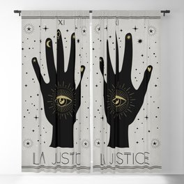 La Justice or The Justice Tarot Blackout Curtain