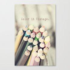Color it Vintage Canvas Print