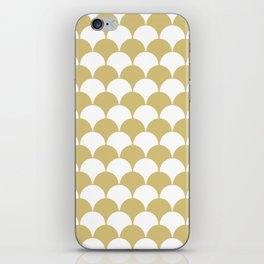 Fan Pattern 321 Gold iPhone Skin