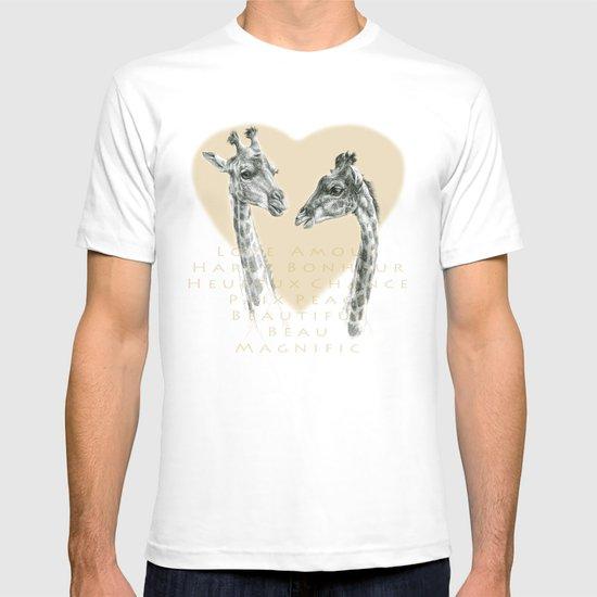 Giraffes love G055bis T-shirt