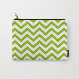 Simple Chevron Pattern - Apple Green & White - Mix & Match with Simplicity of Life Carry-All Pouch
