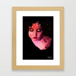 Low-poly portrait Framed Art Print