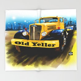 Old Yeller Throw Blanket