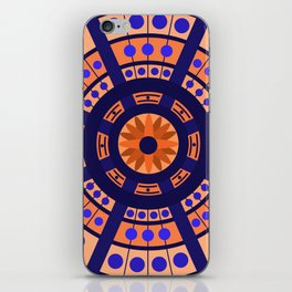 Complimentary & Symmetry - Blue and Orange iPhone Skin
