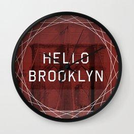 hello brooklyn Wall Clock