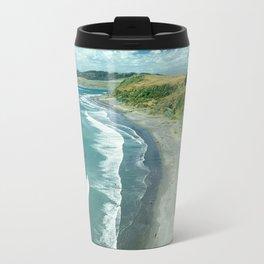 The famous Raglan beach, New Zealand Travel Mug