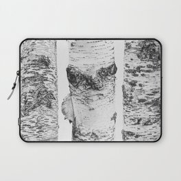 Birch Trees Landscape Photography | Black and White | black-and-white | bw Laptop Sleeve