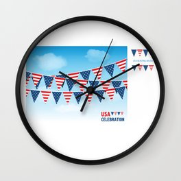 National Presidents Day 2 Wall Clock
