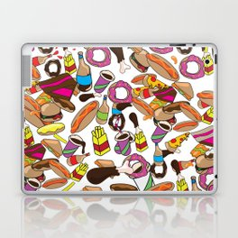 Cartoon Junk food pattern. Laptop & iPad Skin
