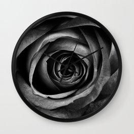 Black Rose Flower Floral Decorative Vintage Wall Clock