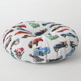 Vintage Cars Floor Pillow