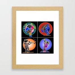 Neon Jazz Band New Orleans Framed Art Print