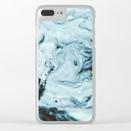 Blue world Clear iPhone Case