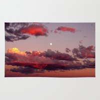 utah Area & Throw Rugs featuring Utah Sunset by Jenna Weil