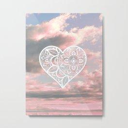 Heart Mandala in the Sky Metal Print