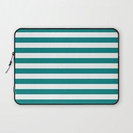 Horizontal Stripes (Teal/White) Laptop Sleeve