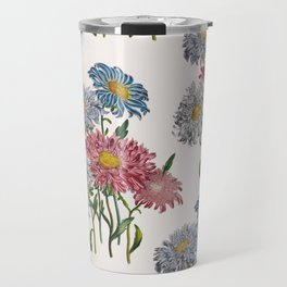 Old-fashioned illustration of China Asters Travel Mug