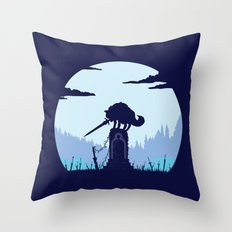 Grey Wolf Sif (Dark Souls) Throw Pillow