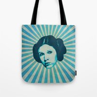leia Tote Bags featuring Leia by Durro