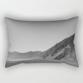 Driftwood on a California Beach Rectangular Pillow