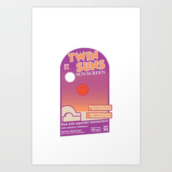 Twin Suns - Sun Screen Art Print