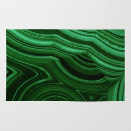 GREEN MALACHITE STONE PATTERN Rug