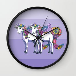 Unicorn Twins Wall Clock