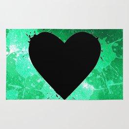 Elegant watercolor splash heart Rug