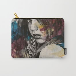 Untitled #23719 (sexy girl in black bra) Carry-All Pouch