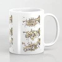 trumpet Mugs featuring Trumpet Melt by Dan Lisowski Illustration
