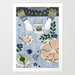 Blueberry Scones Art Print