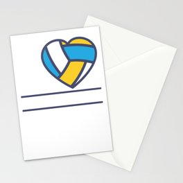 Cute Love Volleyball Gift Print Girls Volleyball Team Print Stationery Cards