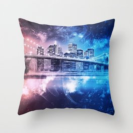 New York, Brooklyn Bridge Throw Pillow