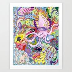 Dazzling Squid Art Print