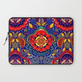 Bono Fantasy Pattern Red and Blue Laptop Sleeve